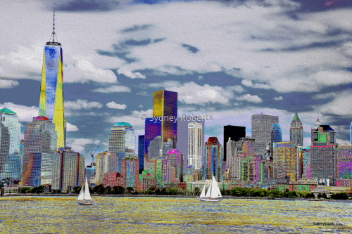 Portrait of Lower Manhattan, New York City