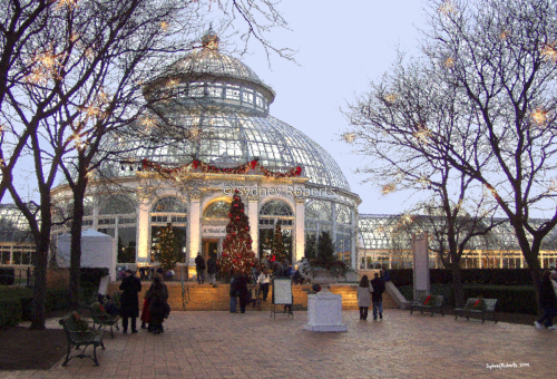 Christmas at the Botanical Gardens, New York City