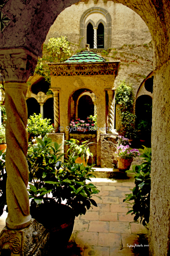 Cloisters At The Villa Cimbrone, Ravello, Italy