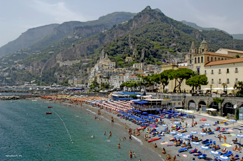 The Beach at Amalfi, Italy