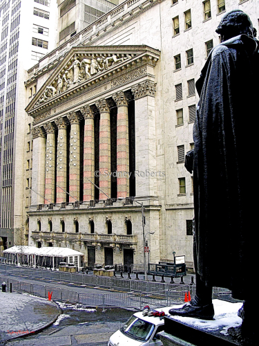 New York Stock Exchange, after 9/11 NYC January 2002