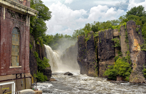 The Great Falls, Paterson, NJ. Without the Bridge