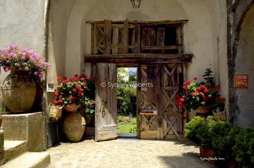 Entrance to the Villa Cimbrone, Ravello, Italy