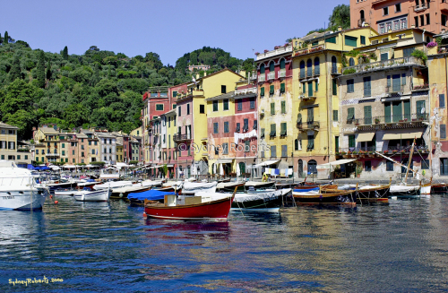 Entering Portofino, Italy