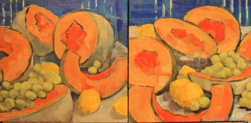 Cantaloupe Sisters II by Silvia Rutledge