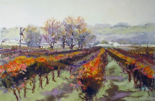 Winter Vineyard II by Silvia Rutledge