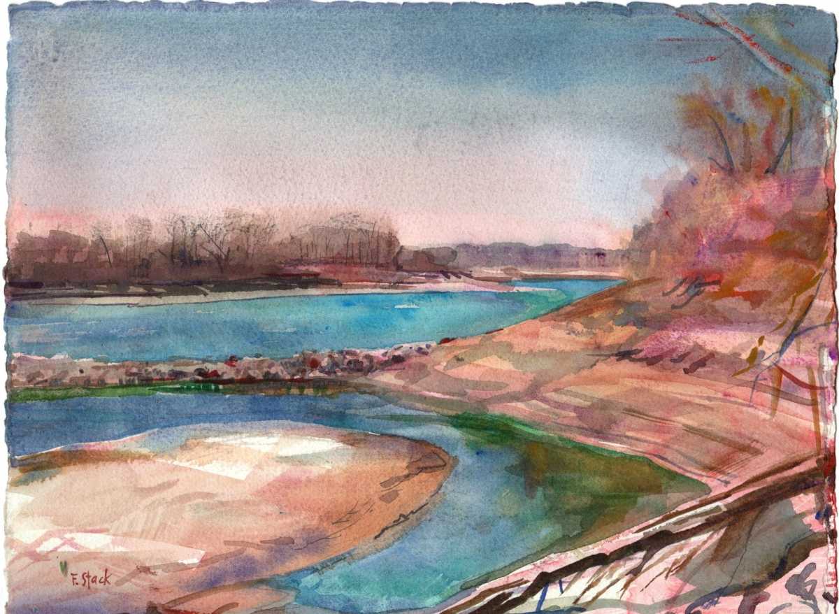 Missouri River in Winter (large view)