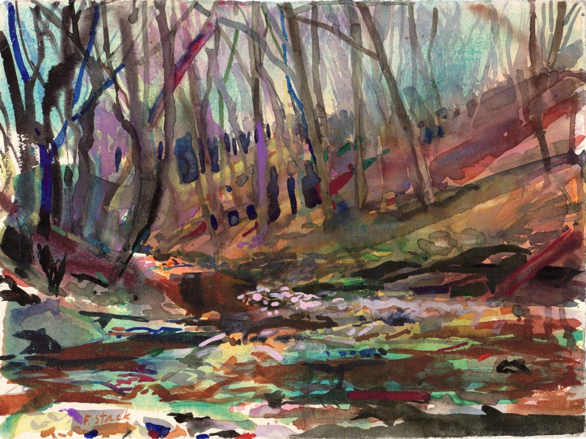 Creekbed and Woods (large view)
