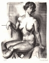 Untitled Nude Lithograph