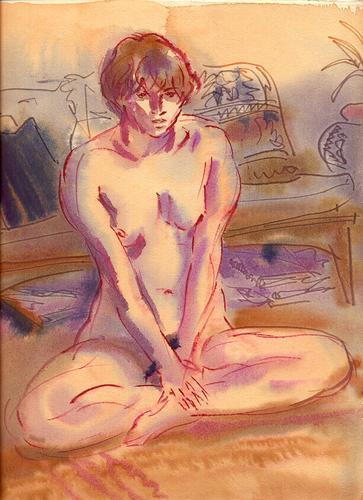 Crosslegged Nude (large view)