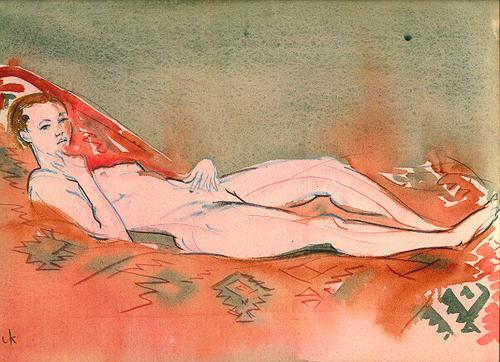 Nude on a Mexican Blanket