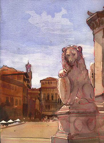 Tuscan Lion-Piazza S. Croce, Florence (large view)