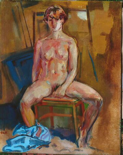 Seated Nude with Short Hair