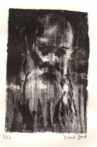 Untitled Lithograph, Old Man