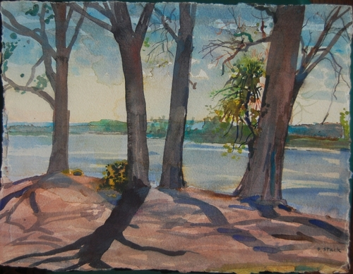 Trees Along The Riverbank (large view)