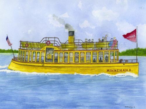 The Steam Boat Minnehaha 1906
