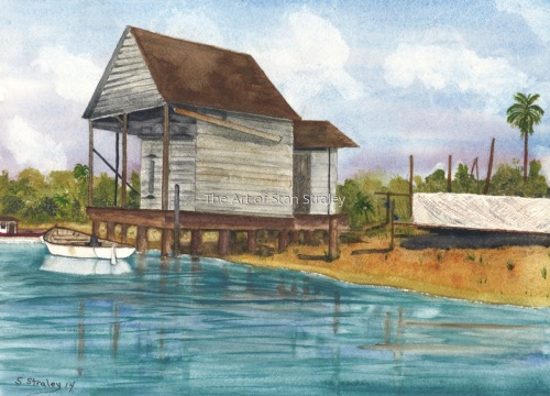 The Old Fish House at the Pass, Venice Florida 1920s