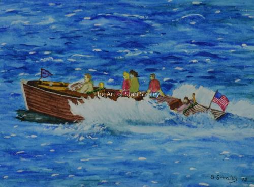 The moonlight Speedboat ride