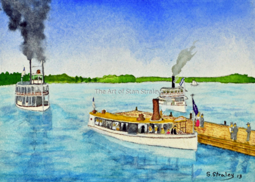The Steam Boat Victor at Lake Park landing