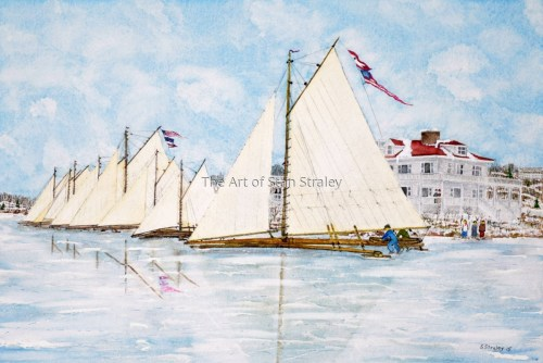 Ice Boat Clubhouse 1890s