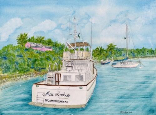 Miss Sadie in the Bahamas