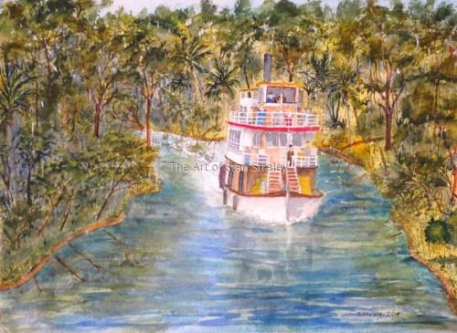River Steamer in Florida 1890s