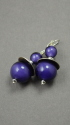 "Shelia Logan Designs, Purple Passion, Venetian Glass Purple rounds with Sterling accents and ear wires.1"" (thumbnail)"