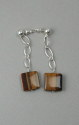 Shelia Logan Designs , Tiger Squares, Tiger's Eye squares with Sterling chain. (thumbnail)