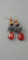 Shelia Logan Designs, Carnelian Nuggets, Carnelian nuggets with sterling silver accent beads and ear wires. (thumbnail)