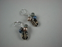 Shelia Logan Designs, earrings, Smokey Quartz, faceted ovals, semi-precious stones, Handmade, One Of A Kind, Jewelry , United States (thumbnail)