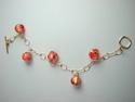 Shelia Logan Designs, Venetian Glass, earrings, 14kt. gold filled chain, women, jewelry, wearable art, United States (thumbnail)
