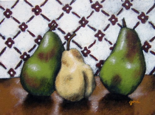 Pears with Wallpaper