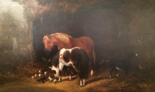 Horses in Barn