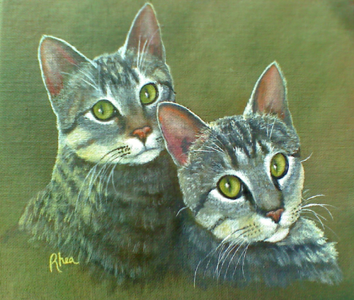 Twin Tabbies (large view)