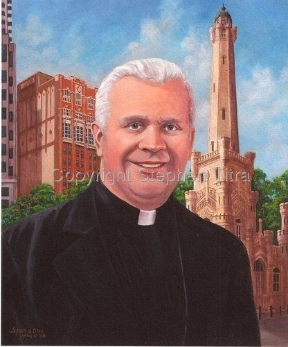 Father Bumhart, S.J. by Stephen Titra