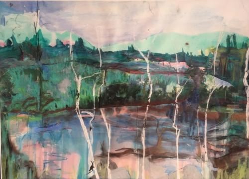 Birches One by Steph Koufman