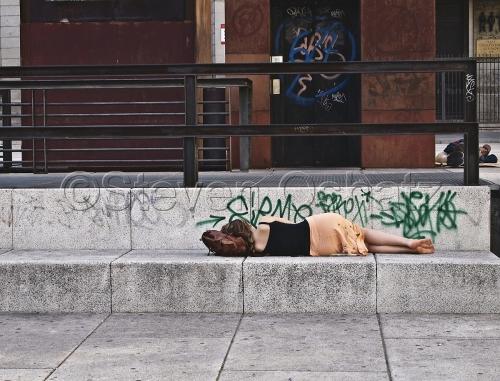 Sleeping Outside The Sofia by Steven Oshatz
