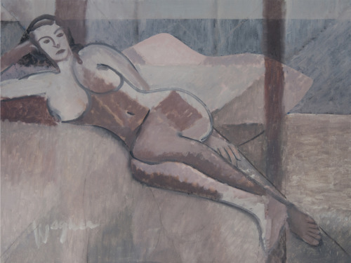 Mauve Nude by Steve Wagner