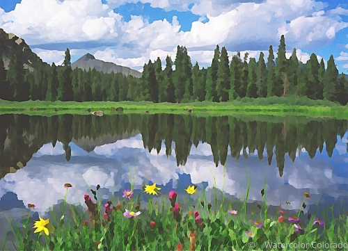 Alpine Lake Reflections