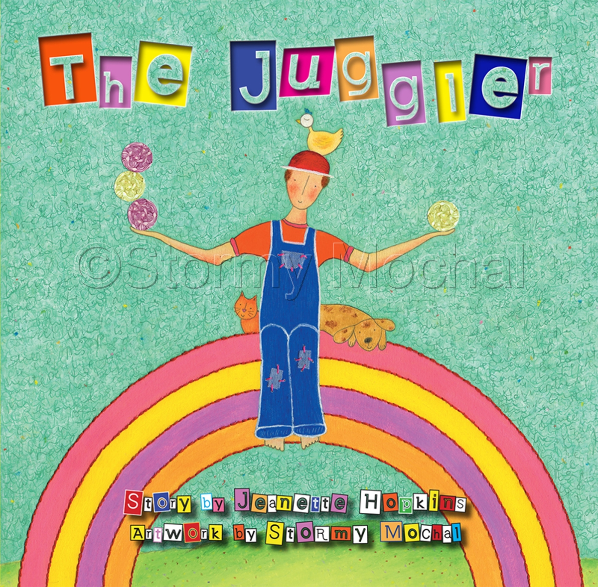 The children's book The Juggler illustrated by Stormy Mochal.    Children will delight in this heartfelt story about a young farmer who yearns to juggle.  Autographed by the illustrator. (large view)