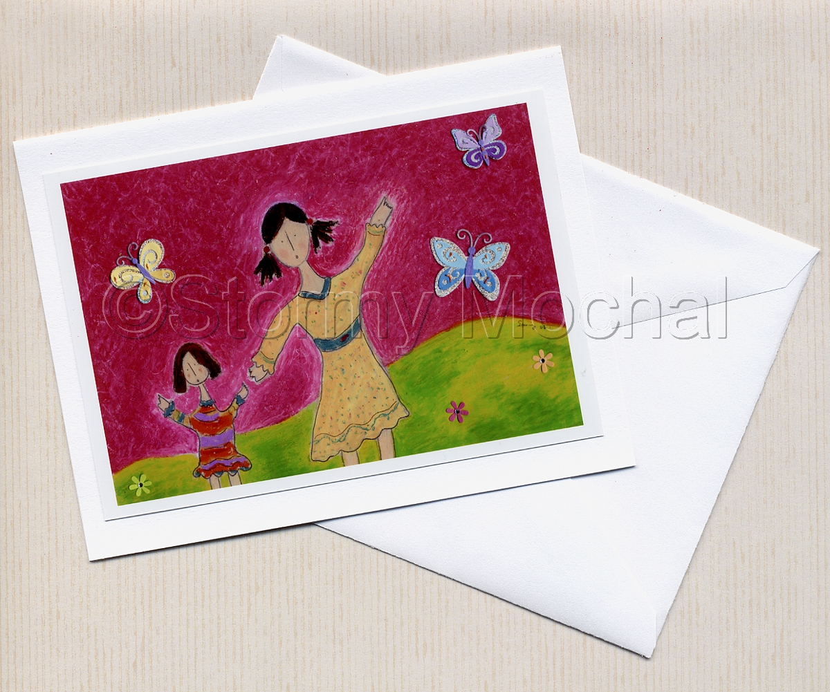 High quality photo greeting card of original mixed media image. (large view)