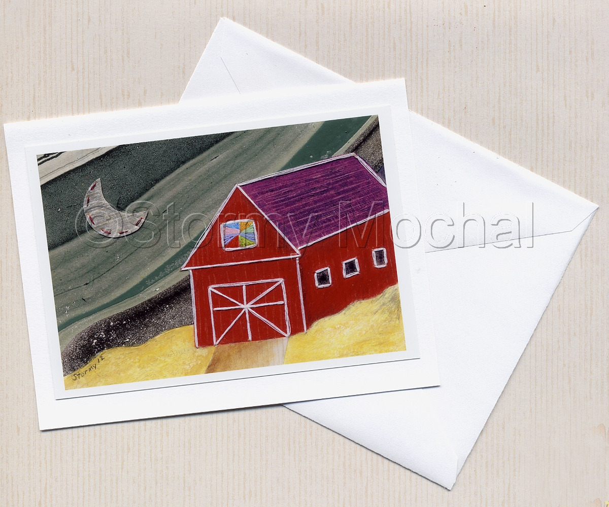 High quality photo greeting card of my original mixed media image.  Card is blank inside so you can send your own special message.  Includes a white envelope (large view)