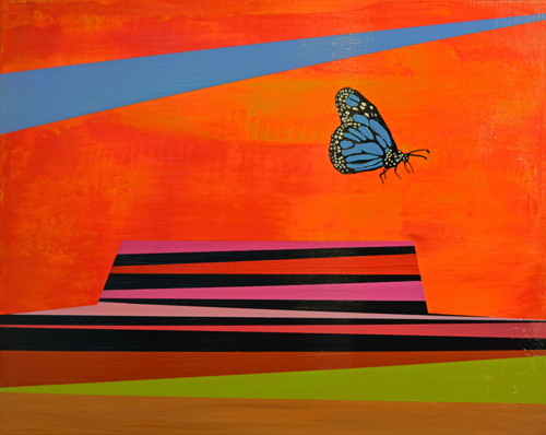 Butterfly in Badlands
