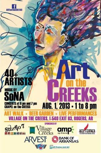 Art on the Creeks poster 2013