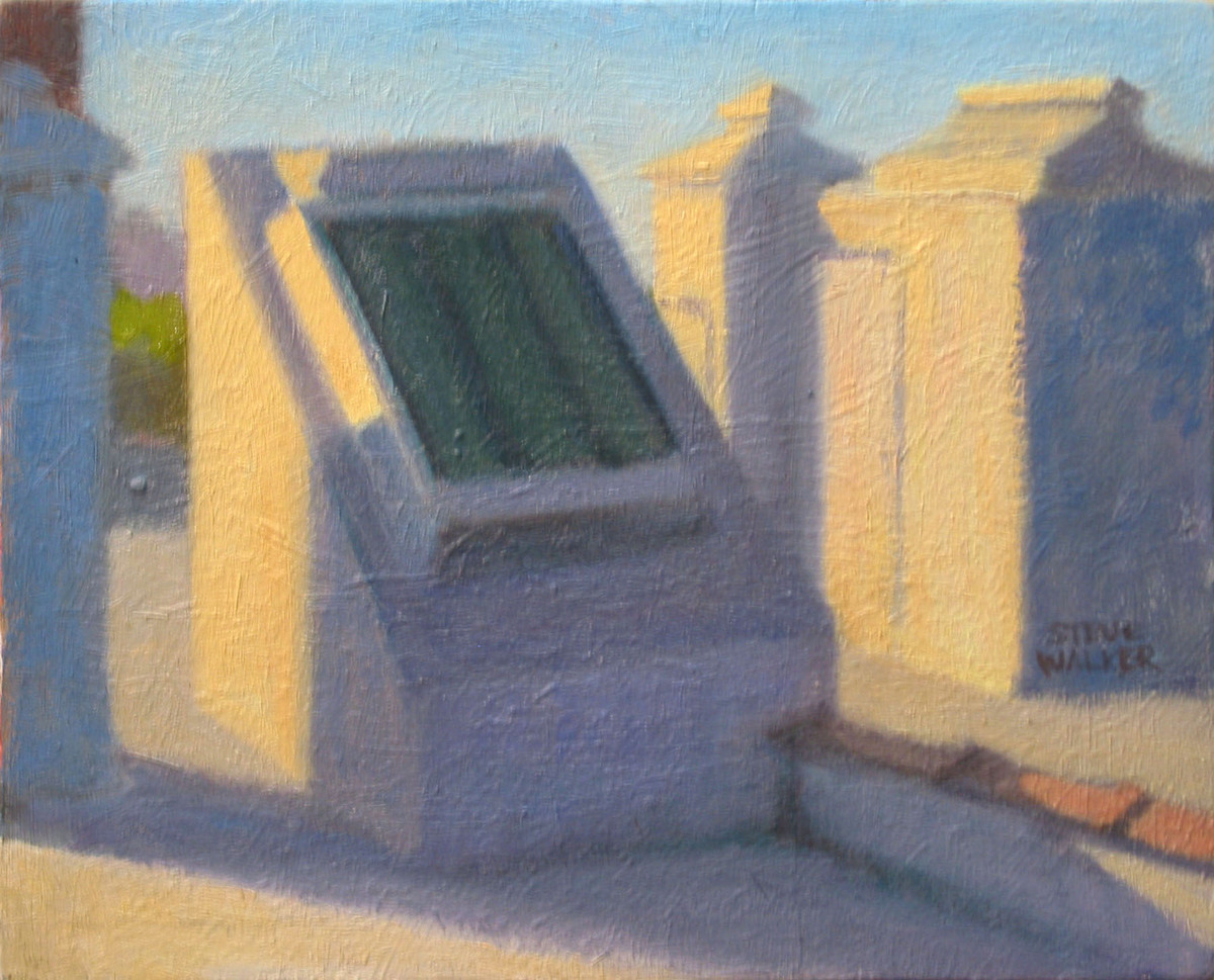 Rooftop Structures, Sunlight (large view)