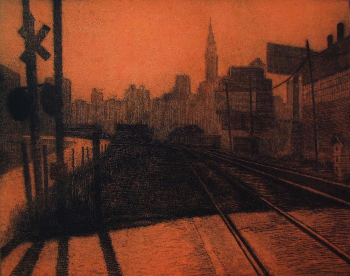Railroad Yard, Long Island City (large view)