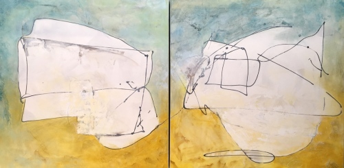 Flight 1-2 Diptych (SOLD)