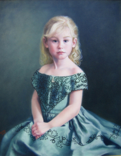 Girl in a Green Dress - a Portrait