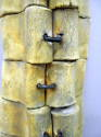 Totemic wall sculpture clay with metal (thumbnail)
