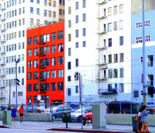 Red Building Downtown LA